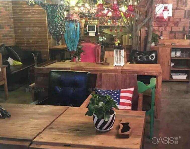 咖啡厅靠背铁艺椅子