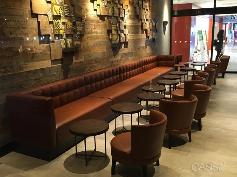 漳州咖啡茶餐厅软包双卡座