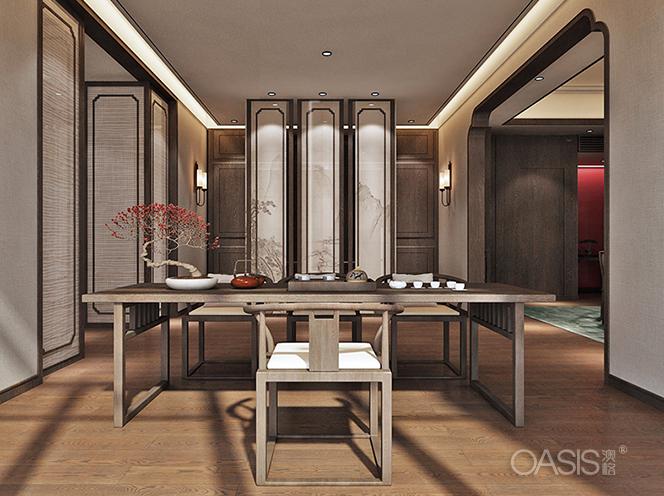 红宴私人会所餐厅家具生产案例
