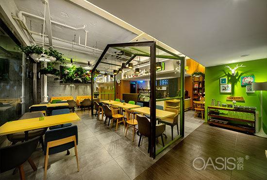 轻食餐厅桌椅【AI咖餐】餐饮家具定制案例